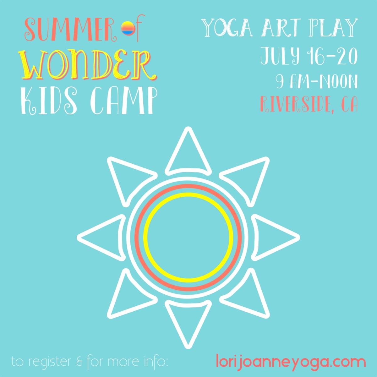 Summer of Wonder! Kids Yoga, Art, & Play Camp